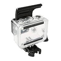 NLEカメラ防水ケースカバー Gopro HERO4 / 3 用スポーツアクションカメラ防水ハウジングケースABSプラスチックバックドアクリップロックキャッチ 水中ハウジングカバー