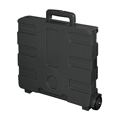 Office Depot Mobile Folding Cart With Lid, 16in.H x 18in.W x 15in.D, Black, 50801 Photo #5