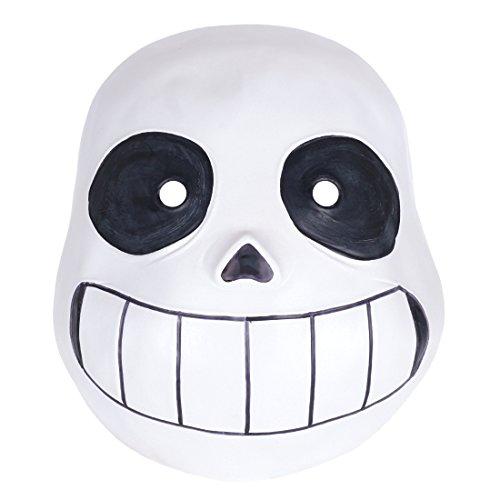 CoolChange Undertale Latex Totenschädel Maske Kindergröße