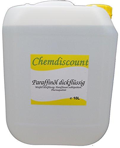 10Liter Paraffinöl dickflüssig, entspricht Ph.Eur, medizinisch, versandkostenfrei! Paraffinum Subliquidum, Pharmaqualität