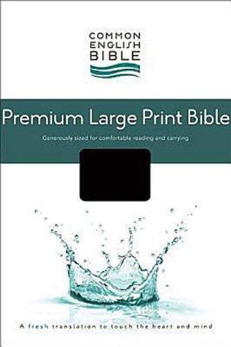 Compare Textbook Prices for CEB Common English Premium Large Print Bible, Decotone Black Onyx Large Print Edition ISBN 9781609260651 by Common English Bible