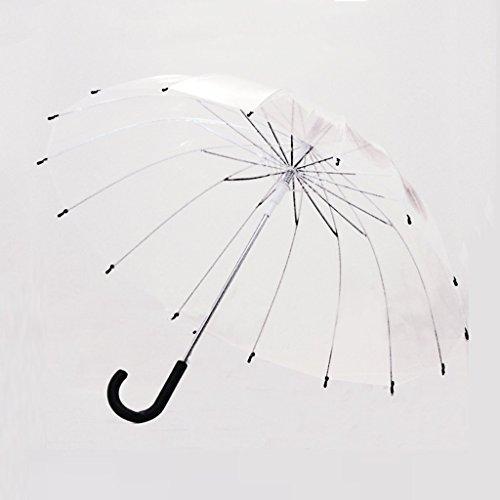 YNHNI Paraguas Transparente, Paraguas Transparent Bubble Dome, Ligero Fácil de Llevar Adecuado para Mujeres y niñas, Paraguas de decoración de Bodas,Portátil