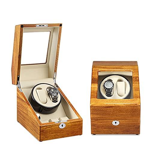 YZSHOUSE Caja de Relojes Automaticos Estuche para 2+ 3 Relojes 5 Velocidades PU Super Silencioso Caja Organizadora de Relojes Hombre Mujer Caja de Reloj Automático A Prueba de Polvo