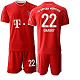 JEEG 20/21 Herren GNABRY 22# Fußball Trikot Fans Jersey Trainings Trikots (M)