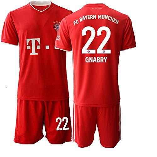 JEEG 20/21 Herren GNABRY 22# Fußball Trikot Fans Jersey Trainings Trikots (XL)