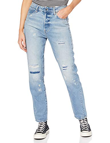 G-STAR RAW Damen Jeans Midge Saddle High Waist Boyfriend, Blau (Medium Aged 9920-9666), 29W / 32L
