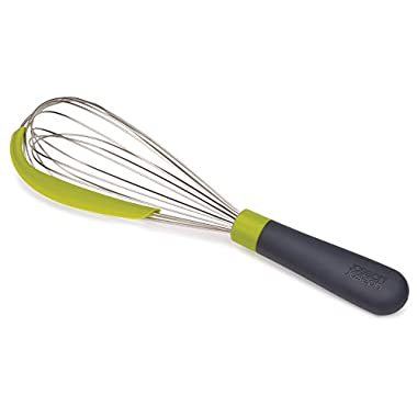 Joseph Joseph 20056 Whiskle 2-in-1 Whisk with Integrated Bowl Scraper, Green