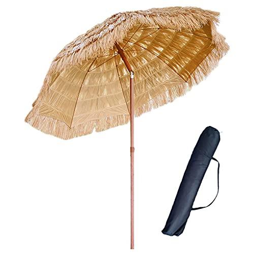 NLXX Sombrilla de Playa, Patio, jardín, Hawaiana, sombrilla con Bolsa, sombrilla de Paja Tiki, sombrilla Plegable, portátil, Impermeable, para el Sol, Tienda, Parque, Mercado
