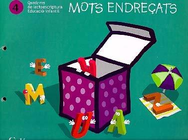 Mots Endreçats. Quaderns de lectoescriptura 4: Educació Infantil - 9788447405756