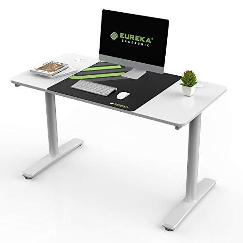 EUREKA ERGONOMIC - Escritorio para ordenador (47 pulgadas, multifunción), diseño de oficina en casa, escritorio,ordenador portátil,mesa de trabajo, con alfombrilla de ratón gratis, color blanco