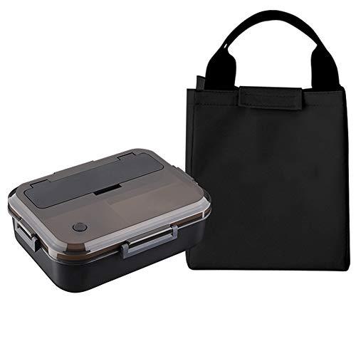 Bento Box da 1,1 l per adulti con chiusura a lucchetto e borsa per il pranzo, riutilizzabile, leggero per microonde o come regalo perfetto