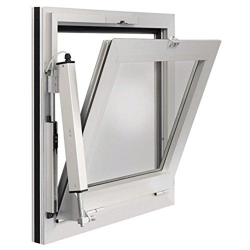 GEZE RWA 100 NT mit E250/ Hub 200 mm, Aluminium weiß RAL 9016, 1 Stück   Fenster elektrisch öffnen