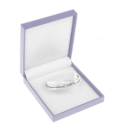 Equilibrium Silver Plated Bangle - Dance As Though No One Is Watching