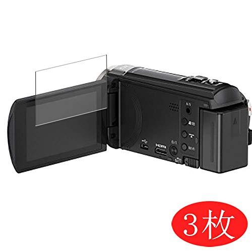 VacFun 3 Pezzi Trasparente Pellicola Protettiva Compatibile con Panasonic HC-V550M (Only Display Screen), Screen Protector Protective Film(Non Vetro Temperato) Protezioni Schermo New Version