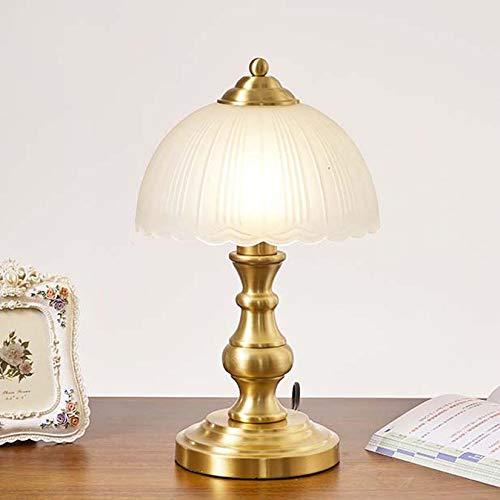 AIBOTY Lámpara De Escritorio De La Vendimia Lámparas De Mesitas De Noche Decorativas Estilo Americano Iluminación con Pantalla De Vidrio para Sala De Estar Sala De Estudio Luz De Escritorio,C