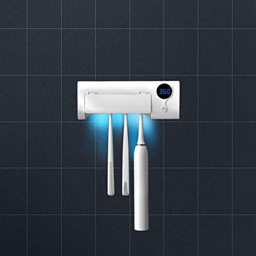 Conemmo Sterilisator Zahnbürstenhalter Sanitizer Sterilisator Reiniger UV UV Zahnbürste automatische Zahnpastaspender