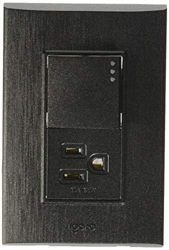 iGoto PS612-GR Placa de 3 Módulos, Grafito + Apagador y Contacto 1.5 Módulos, Style, pack of/paquete de…