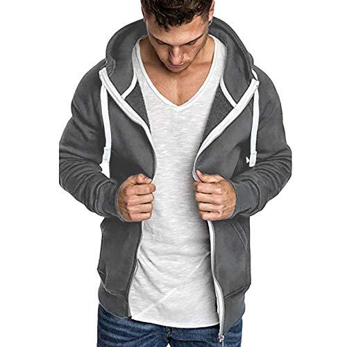 Sweat-Shirt à Capuche Homme Hiver Hoodie Marvel Zippée Blanc Noir Slim Fit Pull à Manches Longues Pas Cher Blouson Moto Homme Garcon Sweats Ado Grande Taille Manteau Homme Hiver Jacket Sportswear