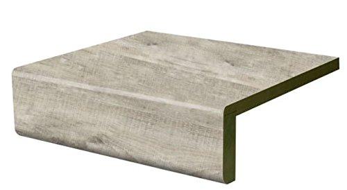 Treppenstufe Renovierungsstufe Vinylstufe gerade Vorderkante White Raw Timber (1500 x 740)