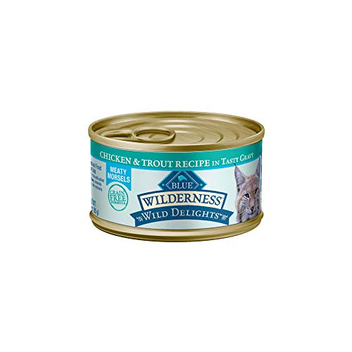 Blue Buffalo Wilderness Wild Delights High Protein Grain Free, Natural Adult Wet Cat Food