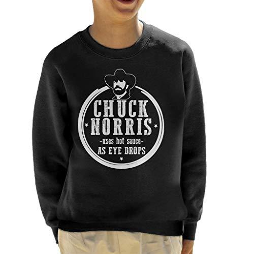 Chuck Norris gebruikt hete saus als oogdruppels Sweatshirt voor kinderen