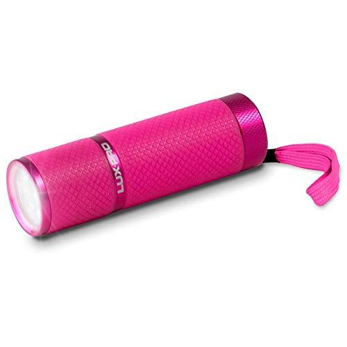 LUX-PRO LP395-PK Gels Glow in Dark 9 LED Flashlight, Pink