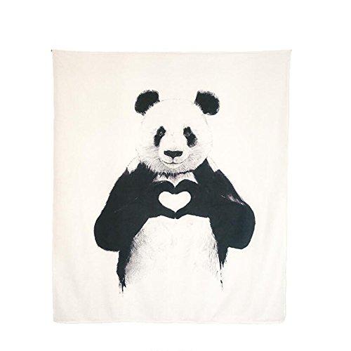 CHGDFQ Lindo Animal Estampado de algodón Tapiz, Tapiz Tapiz Mandala Tapiz Hippie Picnic Beach Sheets -130 * 150cm / 59 * 51inch- fotografía de Fondo de Tela decoración Interior (Color : A)