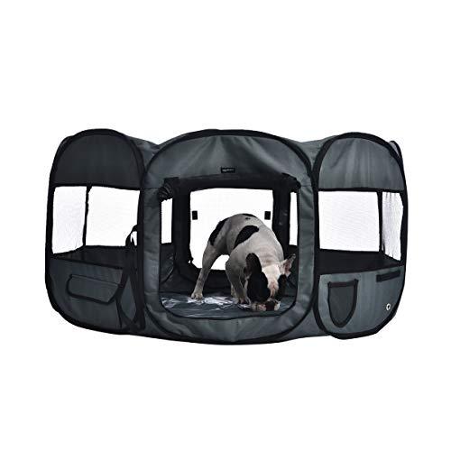Amazon Basics - Recinto portatile per animali domestici, 114 cm, Grigio