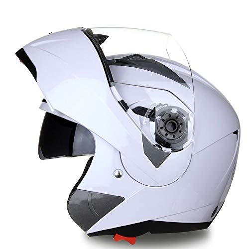 GGXX Casco Modular, Casco De CombinacióN De Cara Abierta, Casco De Motocicleta De Campo Traviesa con CertificacióN Dot/ECE Casco Antivaho De Cuatro Estaciones De Doble Lente