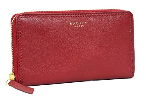 Radley Arlington - Portafoglio in pelle con cerniera, colore: Rosso
