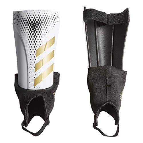 adidas Unisex-Child Predator Match Shin Guards, White/Gold Metallic/Black, Large