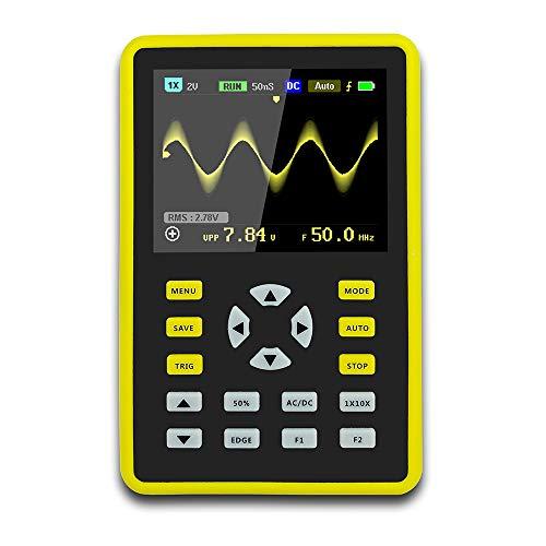 Oszilloskop, Professioneller LCD-Bildschirm Mini-Handheld-Digital Oszilloskop Eingebaute Lithiumbatterie, 64 MB Speicherplatz, 100 MHz Bandbreite, Abtastrate 500 MS/s