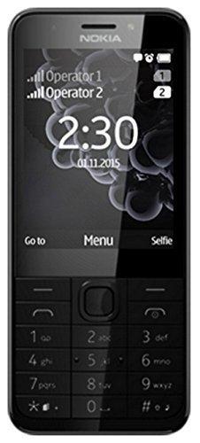 Nokia 230 Dual SIM Smartphone (7.11 cm (2,8 Zoll), 32GB, 2 Megapixel, Betriebssystem Series 30+) Dark Silber