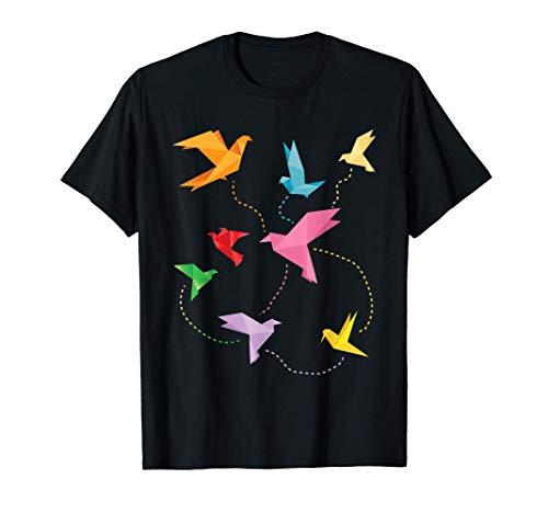 Cultura Japonesa Doblar El Papel Idea Regalo Grulla Origami Camiseta