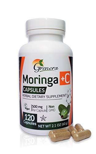 Moringa Organic Powder plus Amla capsules (120) - 100% pure organic. Anti-inflammatory, Anti-oxidant, Good for Blood Sugar control, used in Ayruvedic Health for 1000s of years.