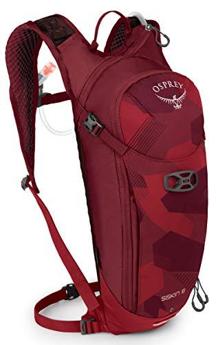 Osprey Siskin 8 Men's Bike Hydration Backpack, Molten Red
