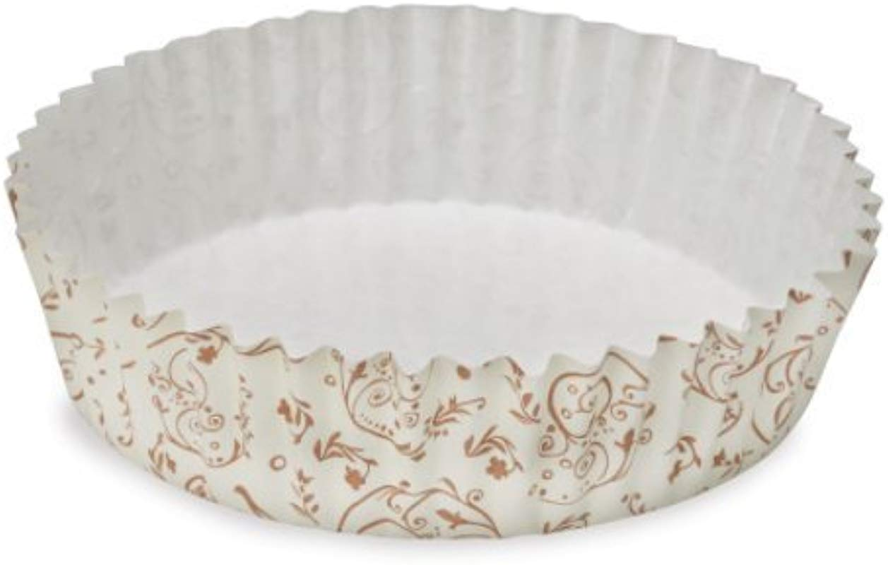 Welcome Home Brands Ruffled Baking Cups Set Of 60 4 Diameter 8 5 Oz 60 Brown Blossom