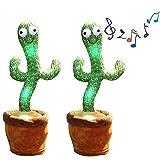 HEXLONG Juguete de peluche Cactus Muñeca Juguete Brillante Cantando y Bailando Cactus Divertidos Juguetes Tempranos para Decoración del Hogar y Niños Jugando