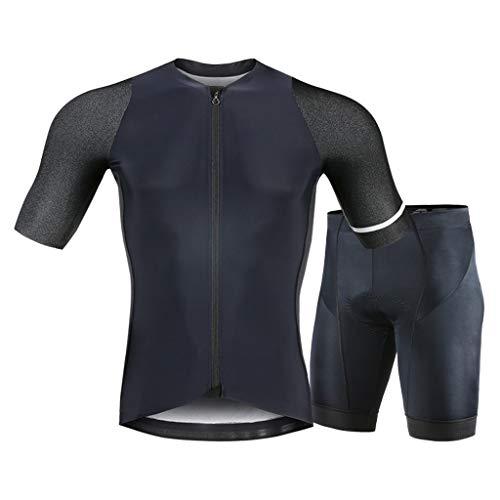 Ropa de ciclismo Ciclismo conjunto los hombres los hombres de manga corta de compresión de bicicletas Pantalones cortos de transferencia térmica con esponja del cojín al aire libre ropa de ciclismo Tr
