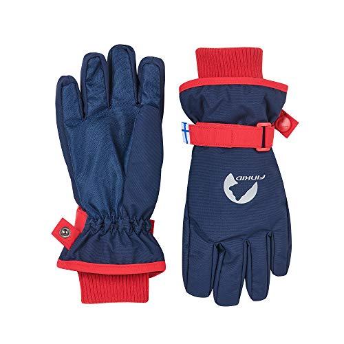 Finkid Pikkurilli Blau, Kinder Fingerhandschuh, Größe M - Farbe Navy - Red