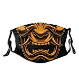 Máscara facial japonesa Samurai Oni a la moda, a prueba de polvo, transpirable, reutilizable, ajustable, lavable, máscara de guerrero de Samurai