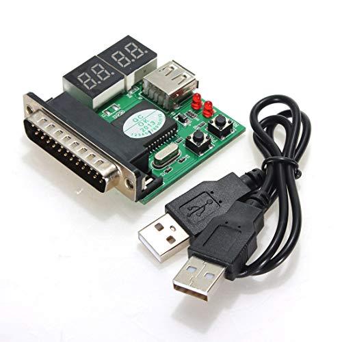 ILS - Computer-Zubehör PC-Diagnose-Karte USB-Postkarte Motherboard-Analysator-Prüfvorrichtung für Notebook Laptop