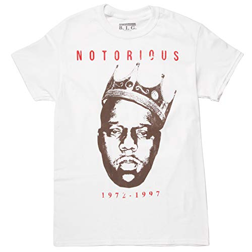 Notorious B.I.G. Vintage Crown T-Shirt - White (Small)