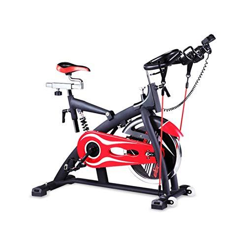DJDLLZY Bicicleta de ejercicio para interiores, con correa de accionamiento para ciclismo, bicicleta de interior con monitor LCD y soporte para tableta de hasta 250 libras para entrenamiento en casa