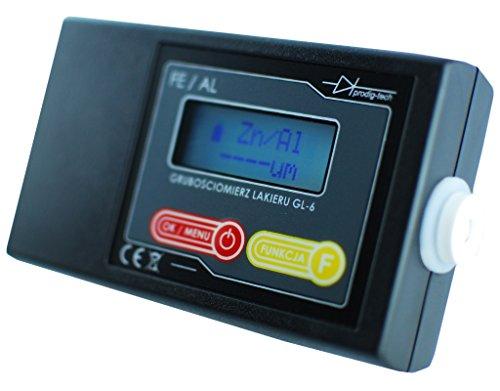 Lacktester GL-6 Schichtdickenmessgerät Lackprüfer Lackschichtenmesser Alu & Fe eingabaute Sonde Lackmessgerät Auto Lackmesser