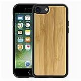 Funda para iPhone SE 2020 Funda iPhone 7 Funda/iPhone 8 Color Sólido Estuche de Madera Híbrido Parte Posterior TPU Flexible Funda de Silicona Ultra Delgada A Prueba de Golpe - Bambú