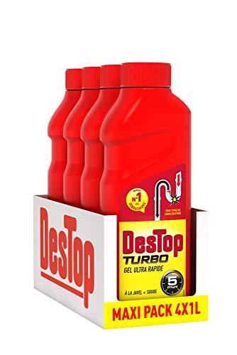 Destop Gel Déboucheur Turbo Pack de 4 x 1 L