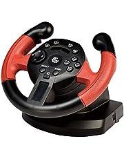 Gembird STR-UV-01 Volante PC,Playstation 3 Negro, Rojo Mando y Volante - Volante/Mando (Volante, PC, Playstation 3, Analógico/Digital, Hogar, Seleccionar, Inicio, Alámbrico, USB)