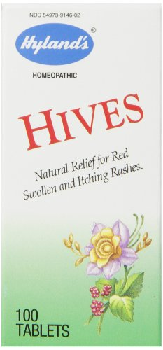 Itch Relief Tablets for Hives by Hyland's, Fast Natural Relief of Swollen and Itching Hives, 100 Tablets