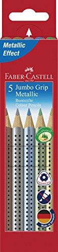 Faber-Castell 110993 5 - Matita colorata Jumbo Grip